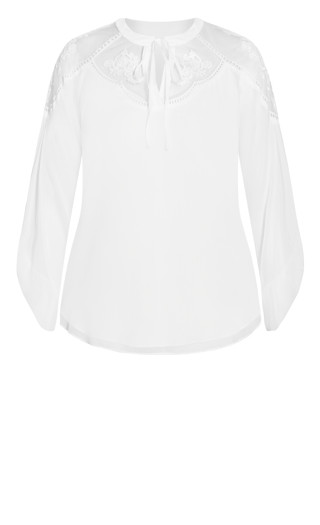 Spring Embroidered Top - ivory