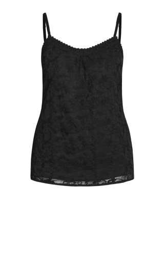 Misty Embroidered Top - black