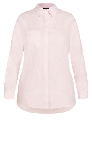 Varsity Stripe Shirt - pink