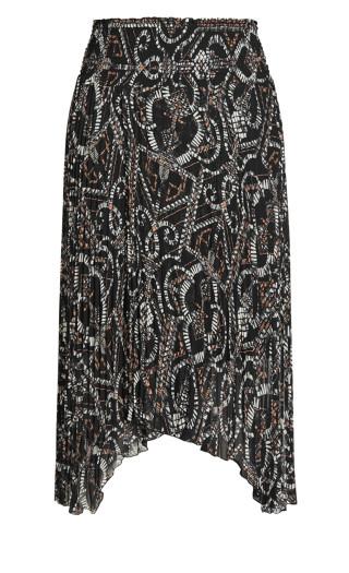 Exotic Tile Skirt - black