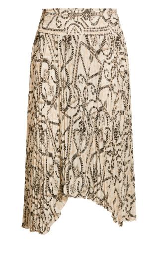 Exotic Tile Skirt - ivory