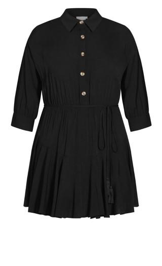 Button Love Dress - black