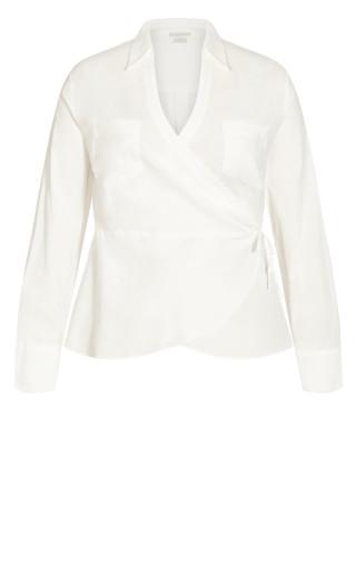 Pocket Wrap Shirt - ivory