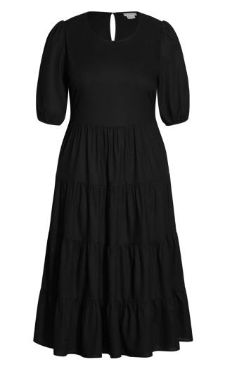 Contempo Tier Dress - black