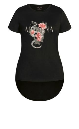 Arizona Rose Tee - black