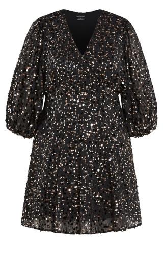 Scattered Glow Dress - bronze