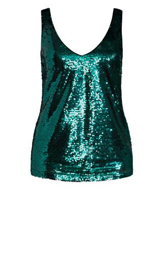 Razzle Dazzle Cami - emerald