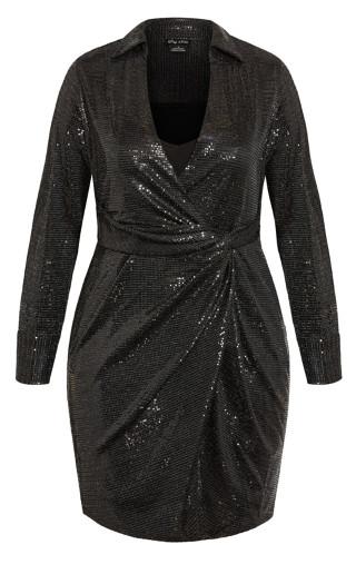 Sequin Glow Dress - black