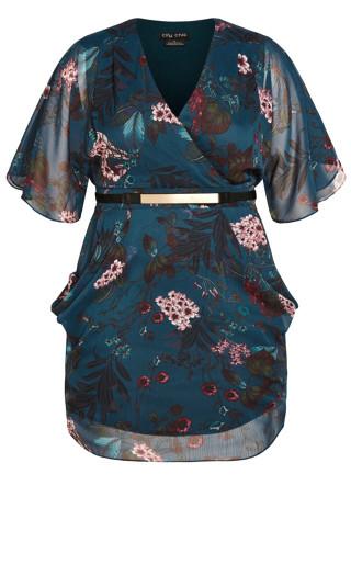 Wrap Botanica Dress - peacock