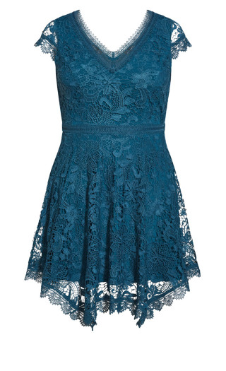 Wild Lace Dress - teal