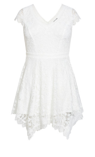 Wild Lace Dress - ivory
