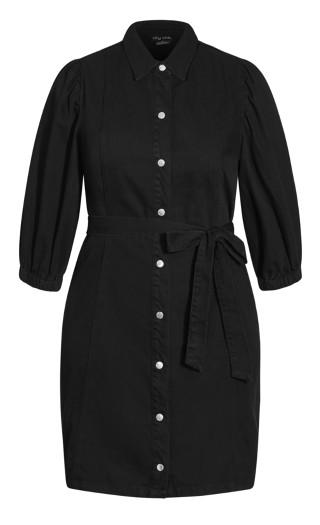 Denim Fashion Dress - black wash