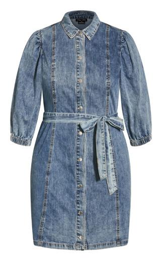 Denim Fashion Dress - mid denim