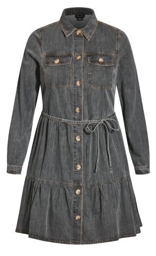 Renegade Denim Dress - black wash
