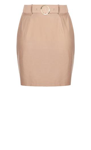 Perfect Suit Skirt - caramel