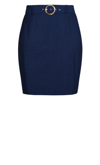 Perfect Suit Skirt - navy