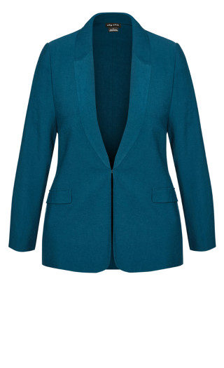 Perfect Suit Jacket - deep teal
