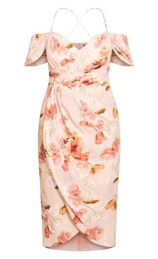 Rose Petal Maxi Dress - blush
