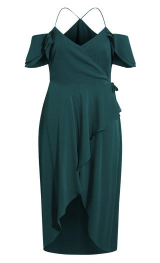 Elegant Maxi Dress - emerald