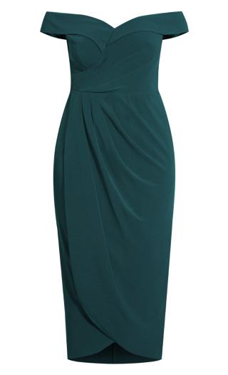 Ripple Love Dress - emerald