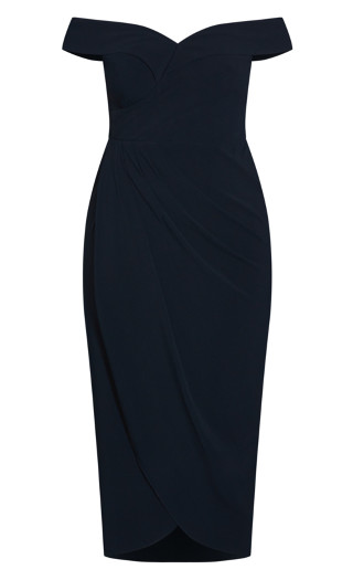 Ripple Love Dress - navy