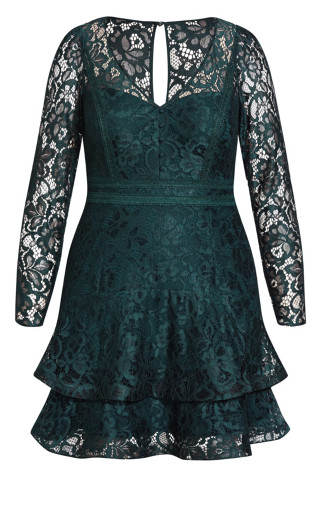 Lace Lover Dress - emerald