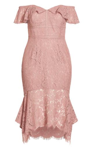 Angel Lace Dress - rose