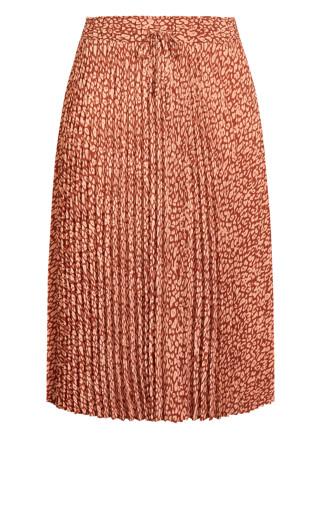 Leopard Skirt - copper