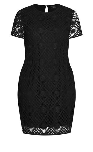 Crochet Vibes Dress - black
