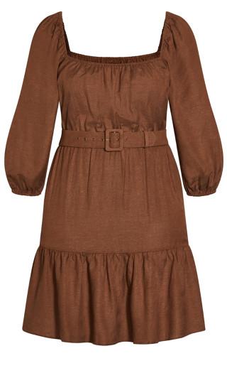 Summer Breeze Dress - cocoa