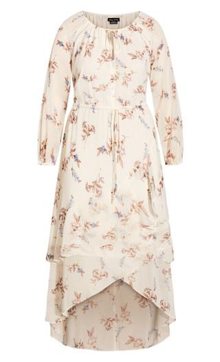 Juliet Floral Maxi Dress - pearl