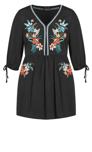 Dreamy Embroidered Dress - black