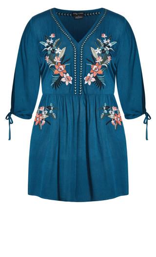 Dreamy Embroidered Dress - poseidon