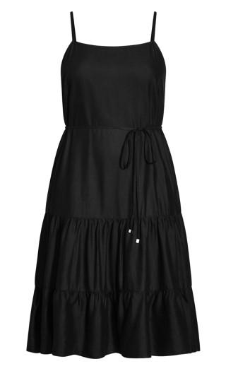 Summer Tier Dress - black