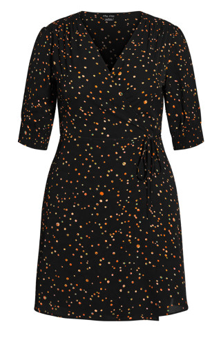 Prism Puzzle Dress - black