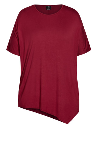 Batwing 3/4 Top - ruby
