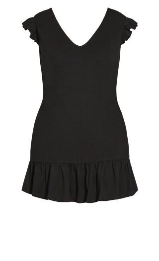 In Ruffle Dress - black