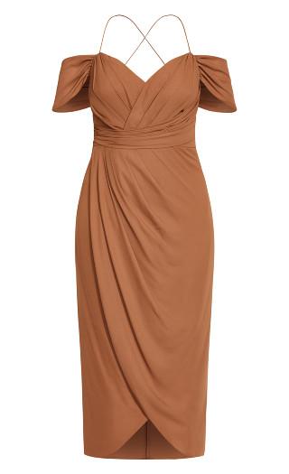 Entwine Maxi Dress - toffee