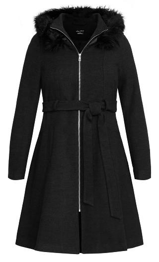 Miss Mysterious Coat - black