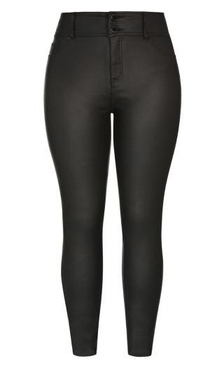 Skylar Short Coated Skinny Jean - black