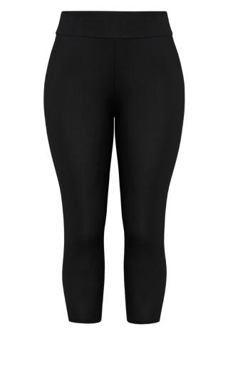 7/8 Wide Band Legging - black