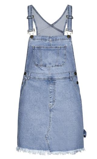 Denim Overall Bib Dress - denim