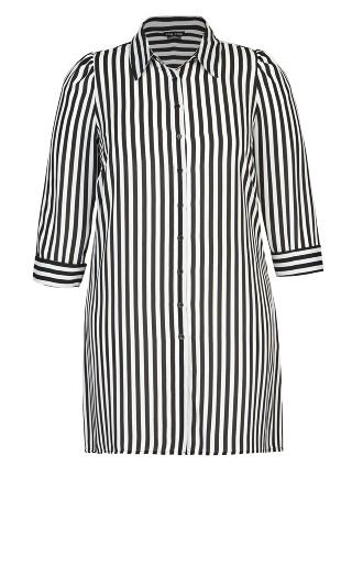 Stripe Love Tunic - black