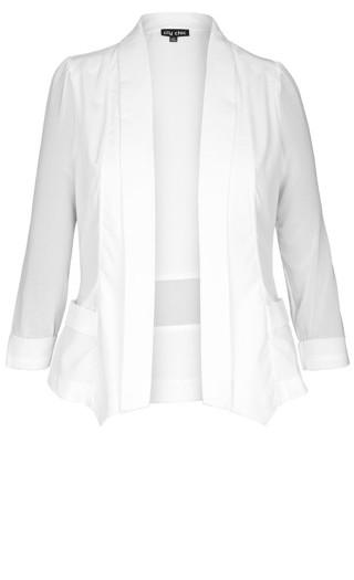 Drapey Blazer Jacket - ivory