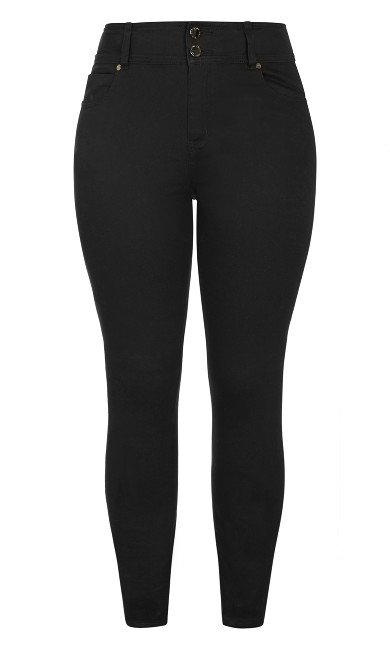 Harley Short High Rise Skinny Jean - black