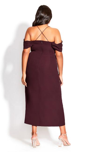 Entwine Maxi Dress - oxblood