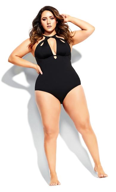 Women's Plus Size Cancun Underwire 1 Piece - black