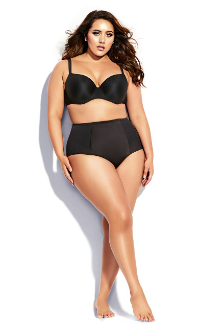 Smooth & Chic Control Shorty - black