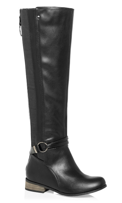 Women's Plus Size Phoebe Knee Boot - black