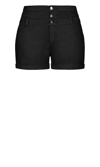 Short Hi Waist Short - black